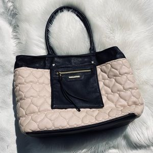 Betsey Johnson Heart Quilted Tote